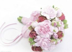Polymer clay peonies bouquet tutorial