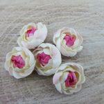 Polymer clay ranunculus flowers