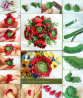 Polymer clay poppy flower tutorial