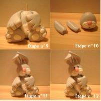 Polymer clay bunny tutorial