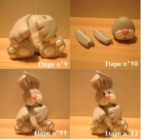 Polymer clay bunny tutorial