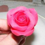 Polymer clay rose tutorial - step 22