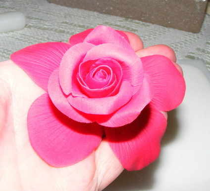 Polymer clay rose tutorial