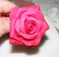Polymer clay rose tutorial