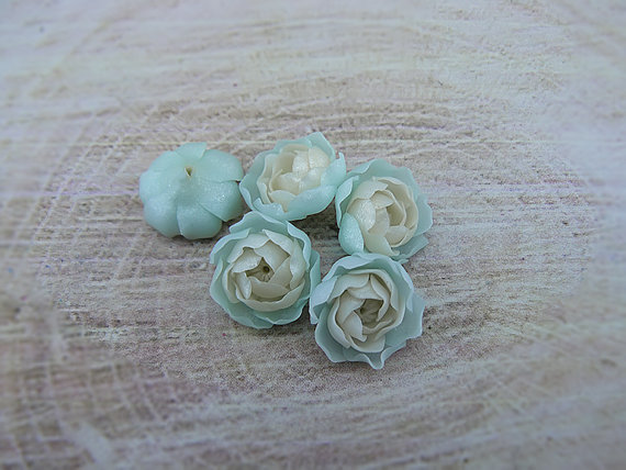 Polymer clay flower beads