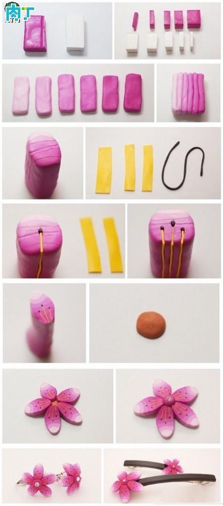 Polymer clay flower earrings tutorial