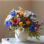 Bouquet with peonies and roses 2
