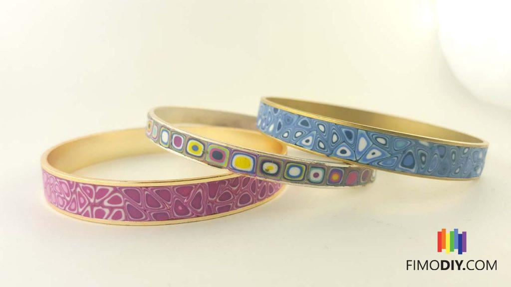 Pink-blue-multi-color-canes-polymer-clay-cuffs-1