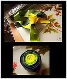 Polymer clay blue green flower cane tutorial step 2