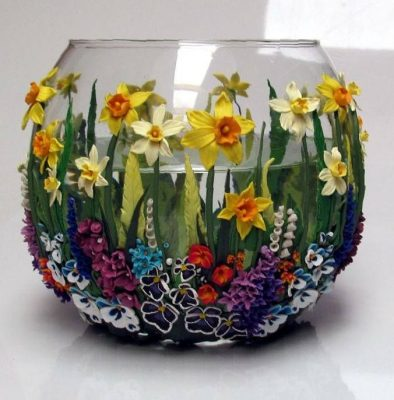 vase craft ideas polymer clay home decorations 3179