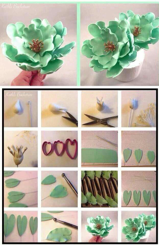 Polymer clay peony tutorial