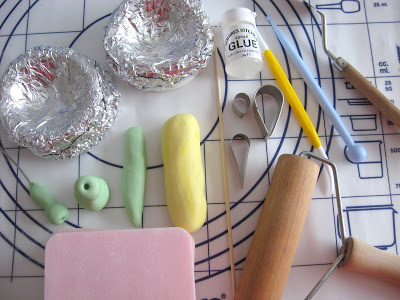 Polymer clay ranunculus asiaticus tools - tutorial