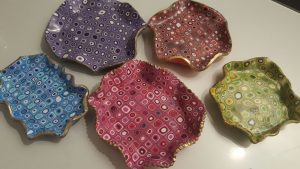Polymer clay decorative jewelry dish – tutorial