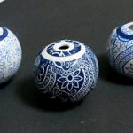 Faux porcelain hollow beads – diy polymer clay