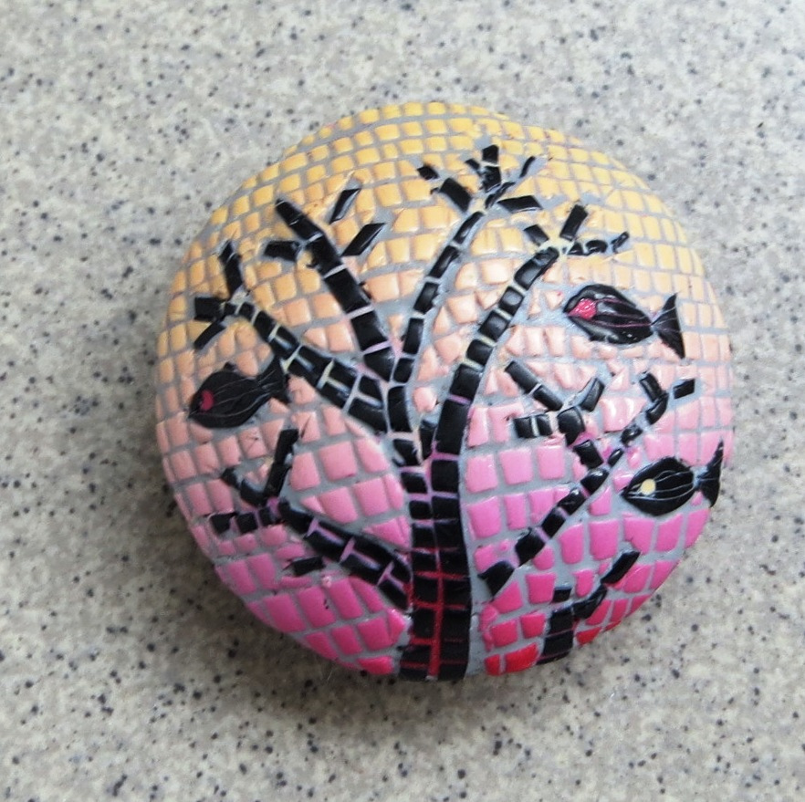 Flying Fishes - mosaic hollow bead