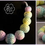 Polymer clay bubbles beads - beaded jewelry - amazing necklace