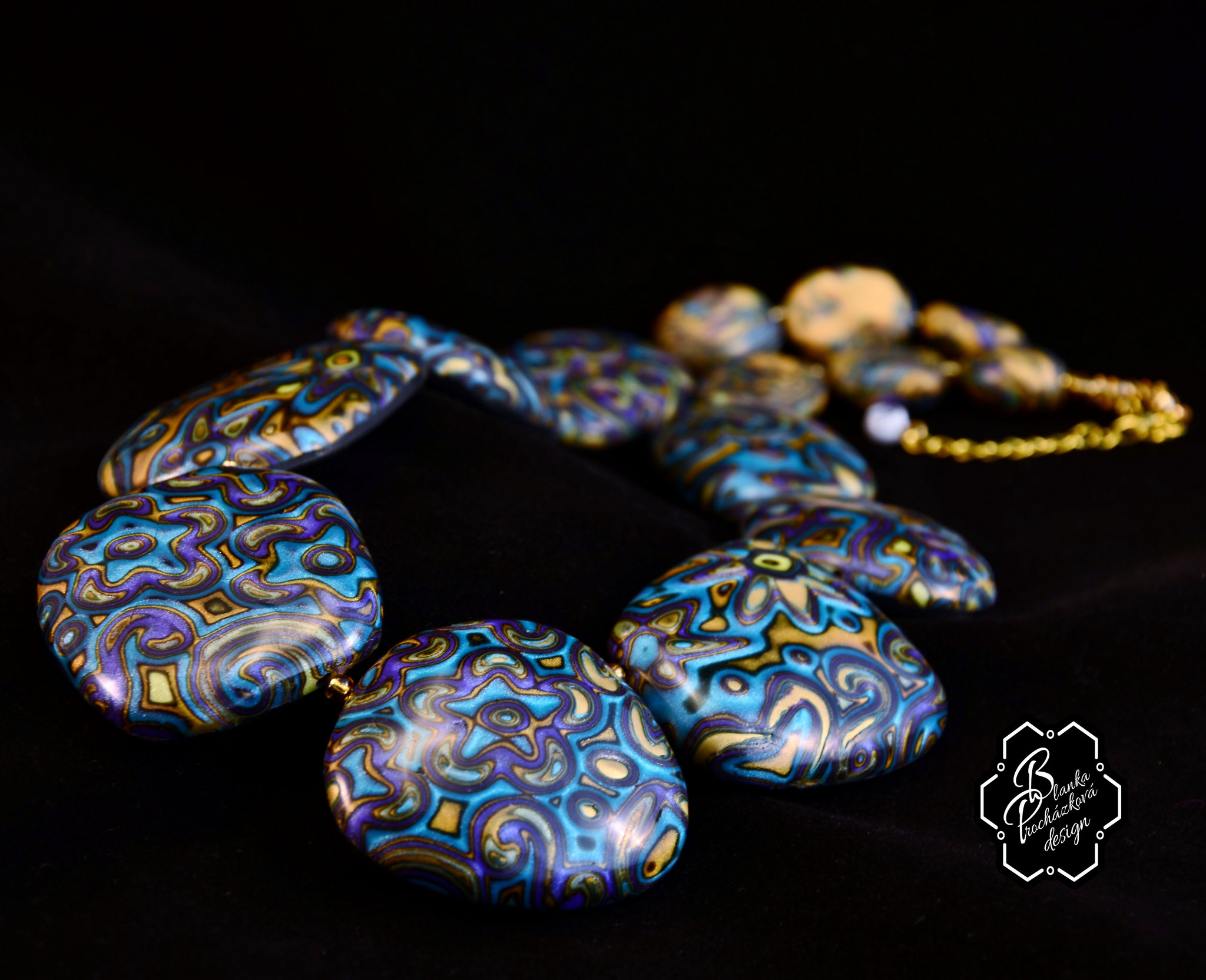 Polymer Clay Mokume Gane Beads Necklace Diy Project