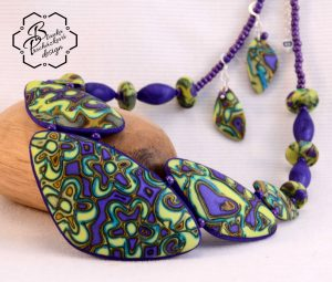 Polymer clay Mokume Gane necklace ideas