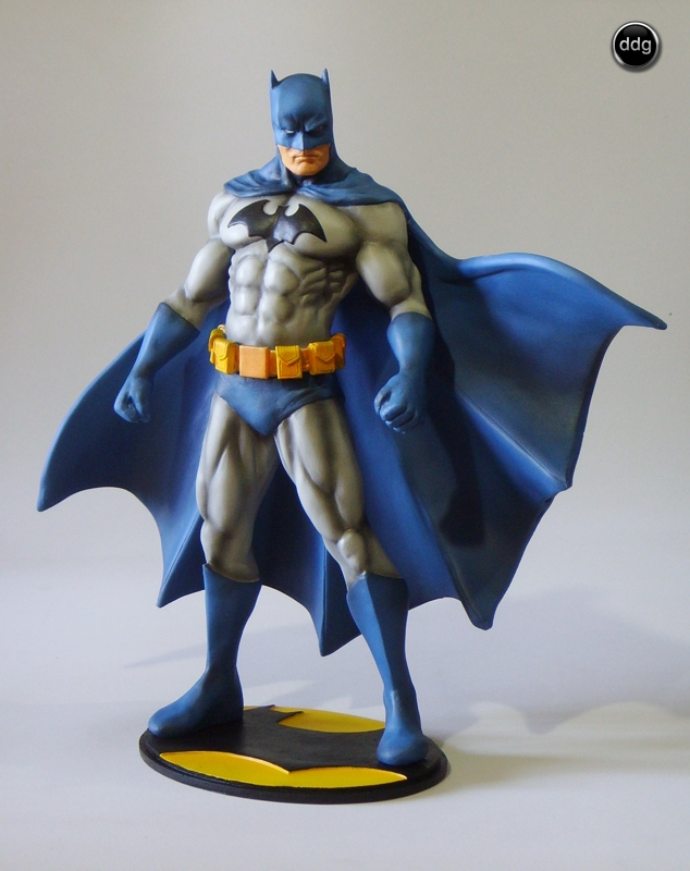 Polymer clay Super Heroes - Batman statue