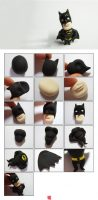 Polymer clay Batman step by step tutorial – Super-Heroes