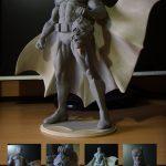 Polymer clay Super Heroes - DIY Batman statue 23 inch