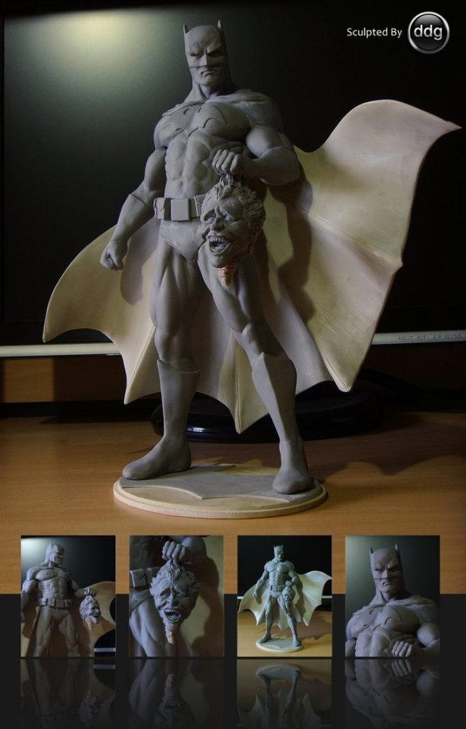 Polymer clay Super Heroes - DIY Batman statue