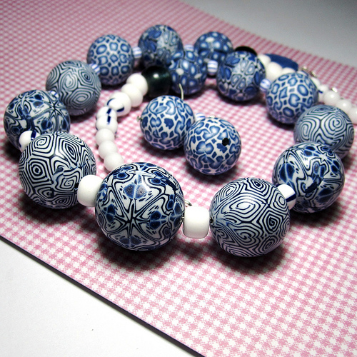 Polymer clay beads - Blue Mosque