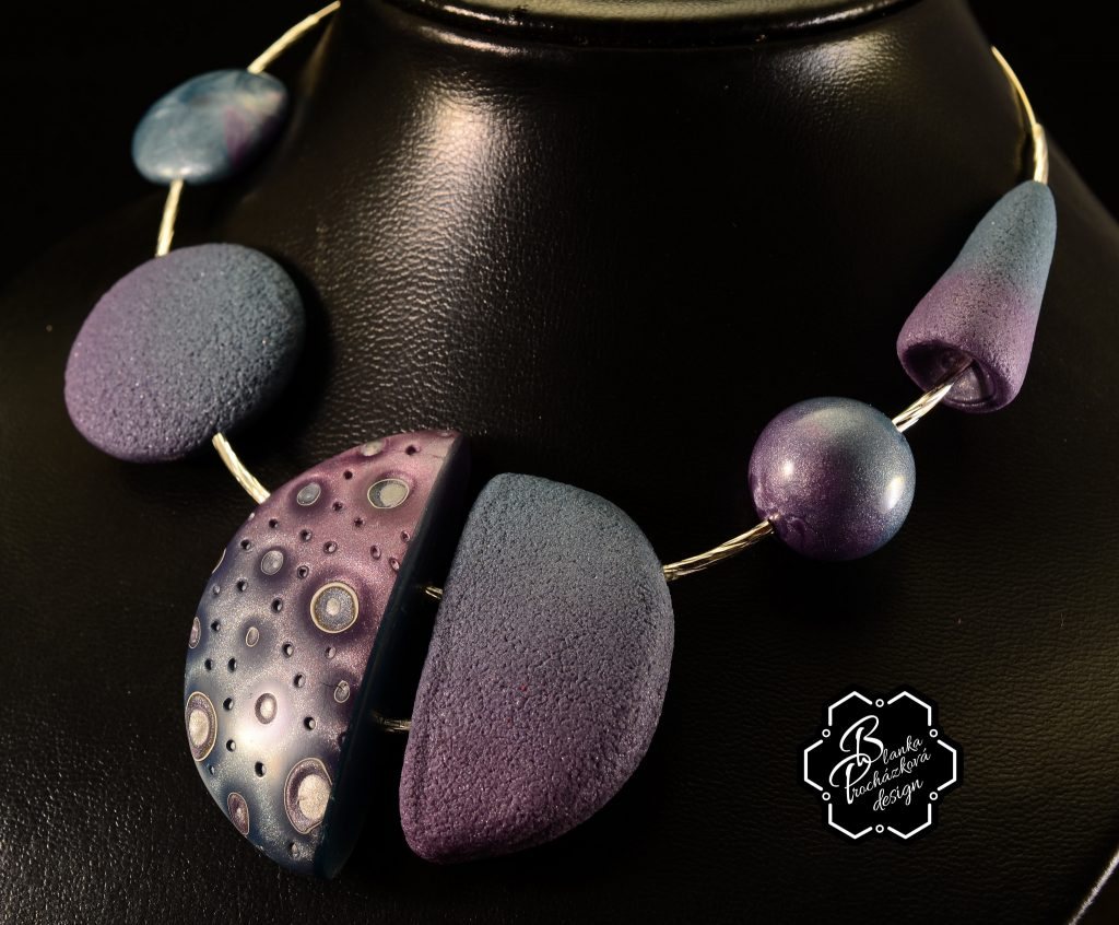 Polymer clay bubbles beads - beaded jewelry - beautiful necklace