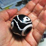Big fimo polymer clay bead