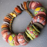 Faux porcelain hollow beads - diy polymer clay