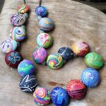 polymer clay beads necklace mosaic – fimo – diy jewelry