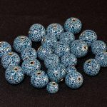 Polymer clay mosaic beads