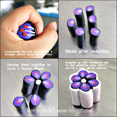Polymer clay flower cane tutorial