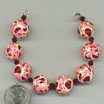 Polymer clay beads made with my translucent mosaic cane