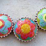 Retro mosaic hollow bead polymer clay amazing