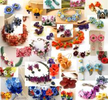 Choose an amazing handmade gift for a woman from 100 polymer clay flower jewelry