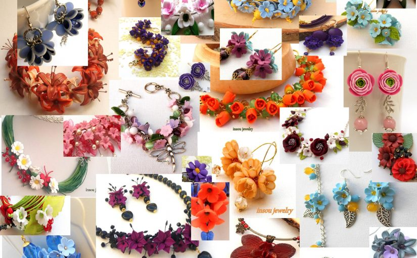 0eb2fa03c03e35 Choose an amazing handmade gift for a woman from 100 polymer clay flower  jewelry ...