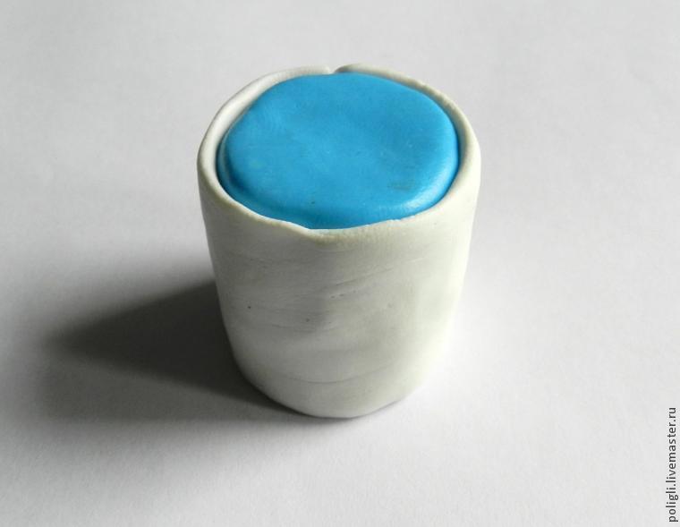 Faux agate polymer clay bracelet - DIY step by step tutorial - step2