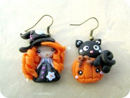 Polymer clay Halloween jewelry