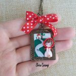 Little red riding hood necklace, fairytale, polymer clay4