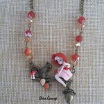 Little red riding hood necklace, fairytale, polymer clay3