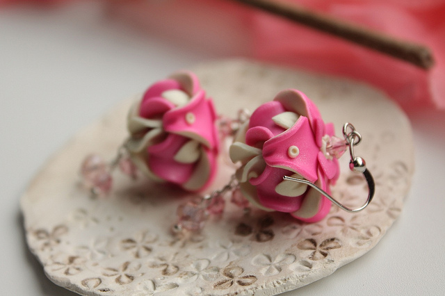 Polymer clay beautiful bell flower earrings (13)