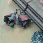 Polymer clay beautiful bell flower earrings (3)