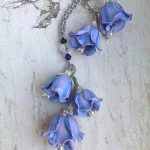 Polymer clay beautiful bell flower earrings (10)