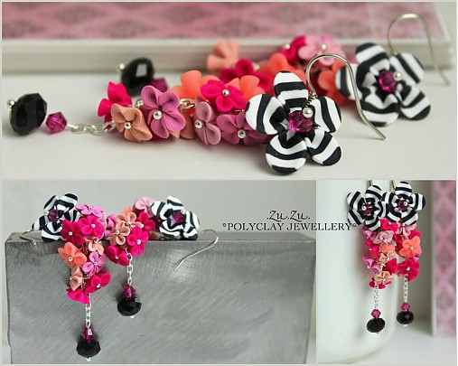 Polymer clay earrings for special occasion