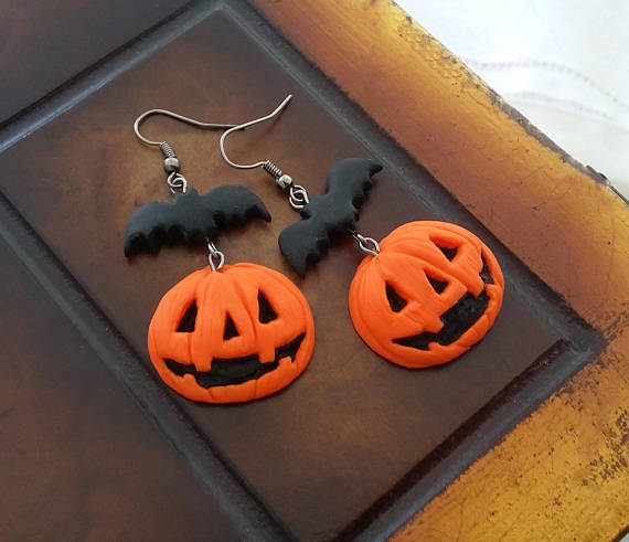 20 polymer clay Halloween earrings ideas