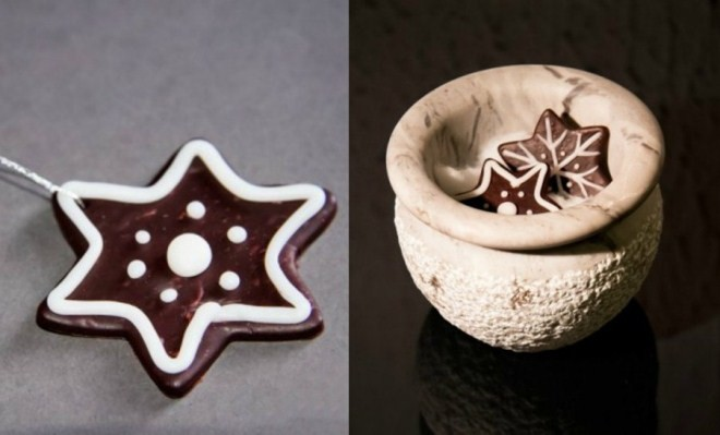 Handmade-christmas-ornaments-polymer-clay-chocolate-cookies-660x399