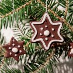 Silver Star Lace Star Christmas Ornament -Polymer clay Silver Star Christmas Ornament