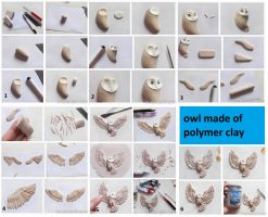 Polymer clay owl  – DIY step by step tutorial