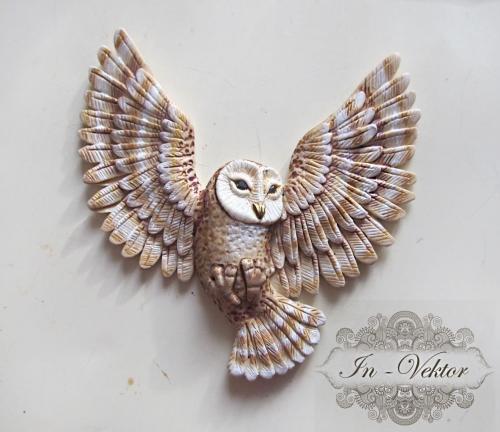 Polymer clay owl  - DIY step by step tutorial